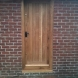 Oak steel lined security door