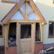 Oak half galzed external door