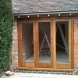 Oak triple bifold doors