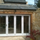 Sapelle painted bifold doors