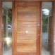 Sapelle contemporary front door