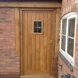 Oak back door leading to oak framed summer Room