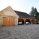 Oak Frame Garage with internal bay and oak doors