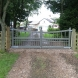 Painted Driveway Gate