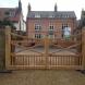 Oak Driveway Gate