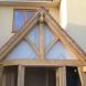 Oak porch detailing