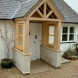 Softwood porch with windows