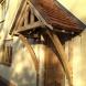 Oak canopy porch