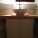 Washroom painted base unit with oak top