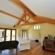 Oak truss, oak floor and oak bifolds