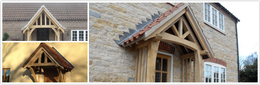 Top left: Oak Porch | Bottom Left: Oak Canopy Porch | Right: Oak Porch