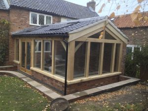 Oak frame Garden Room with Sky light